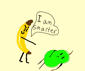 Banana is smart at math... Pear is not