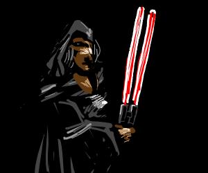 Rey's new lightsaber.