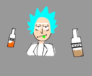 A drunk mad scientist