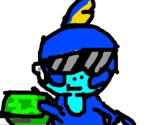 Sobble wearing sunglasses