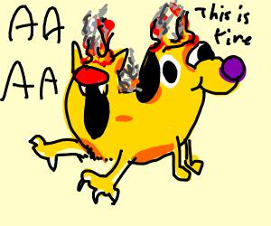 CAT DOG IS ON FIRE AAAAAAAAAAAAAAAAA