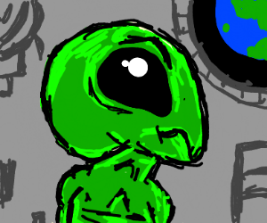 Alien mad with moss all over