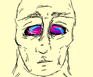 man with void for eyes
