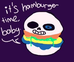 Sansburger says hamburger time