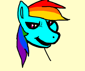 rainbow dash (my little nig)