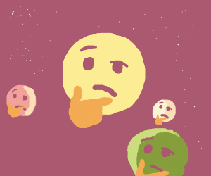 The solar system is thonking