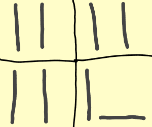 4 pane comic about a stick falling over