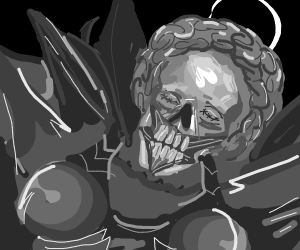skeleton with an Afro