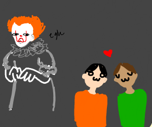 Pennywise disgusted at gay couple