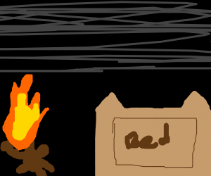 Plushie on fire
