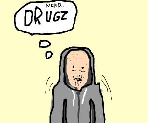 Guy craving drugs