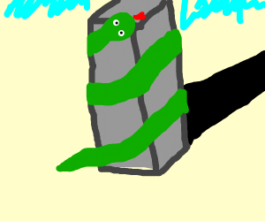 Snake constricts skyscraper