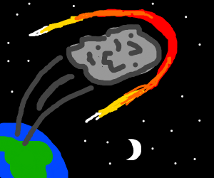 a rocket flies into space from planet earth