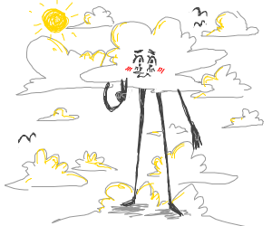 Cool cloud man