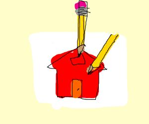 PencilDrawingPencilDrawingHouse