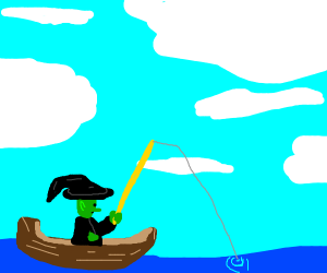 witch sails with big yellow rod