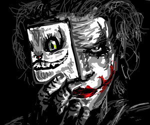 Joker with Cheshire Cat picture
