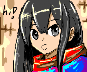 anime girl saying hi