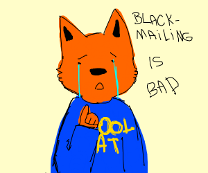furry is sad about blackmailing