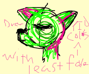 draw w least fav colors. pio