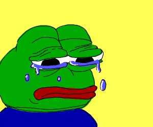 mr frog is sad