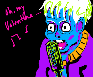 Old blue fellow from Akira is singing jazz
