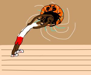 sentient basketball sucks person into void