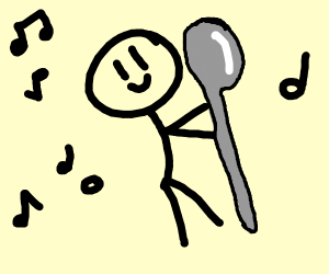 Man dancing with a spoon