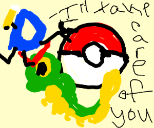 draception taking care of caterpie