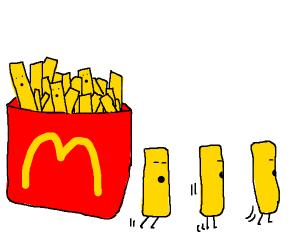 McDonald's french fries running away