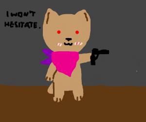 Bandit dog shoots