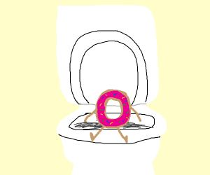 donut taking a dump