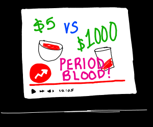 buzzfeed doing a video about period blood