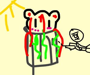 kawaii panda in trash