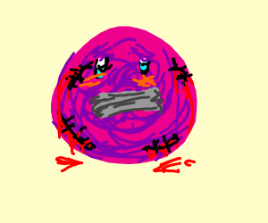 Kirby but without legs, arms, or a mouth