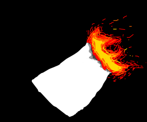 Paper on fire