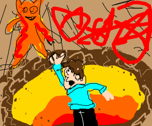 Demonic Garfield sends Jon to his demise