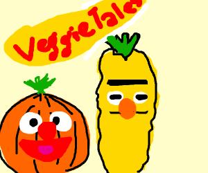 "Veggietales version of ""Ernie and Bert"""