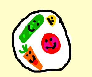 A happy salad
