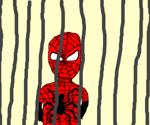 spiderman goes to jail