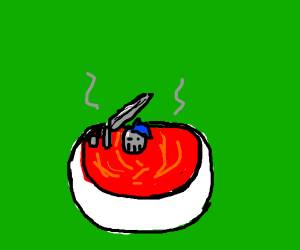knight in tomato soup
