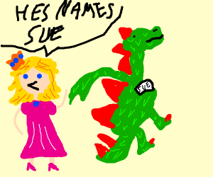 princess says her dragons name is sue