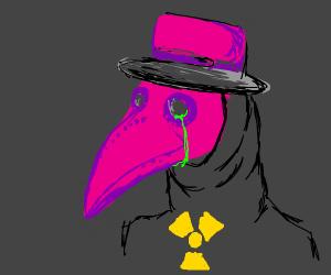 pink plague doctor