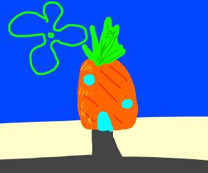 pinapple on the beach