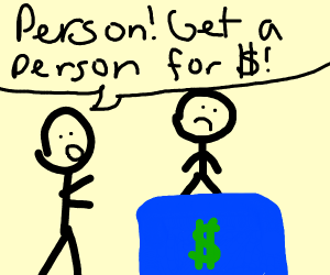 Person selling another person
