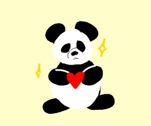 A fat panda man steals a guy's heart