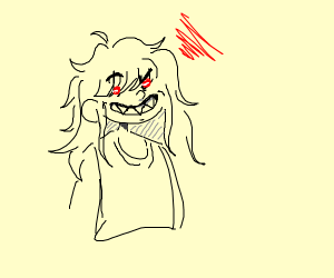 Hell boy with long hair
