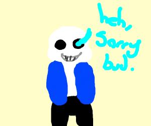 Skeleton hero (not Sans) side view