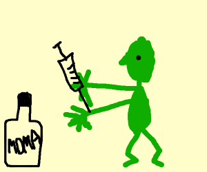 a zombie doing drugs