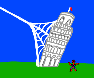 Leaning tower spider power